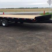 Remorque 102x20 2x5200 lbs rail pour rouleau freins flatbed Laroche deck over