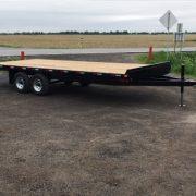 Remorque 102x20 2x5200 lbs rail pour rouleau freins flatbed deck over Laroche