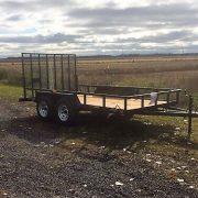 Remorque 2x3500 lbs 6x12 LA19ADE porte rampe Laroche