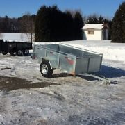 Remorque 54x97 Laroche en acier galvanisé essieu 3500 lbs côtés 21 po