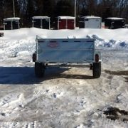 Remorque 54x97 en acier galvanisé Laroche côtés 21 po essieu 3500 lbs