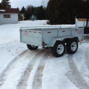Remorque Laroche 2x3500 lbs côtés 21 po GAT5497
