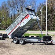 Remorque Laroche benne dompeur 6x12 2x5200 lbs rehausse grillagée acier galvanisé GAD6X12