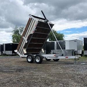 6x10 2x3500 lbs en aluminium Remorque dompeur hydraulique