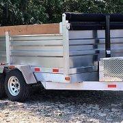 Remorque dompeur 6x10 2x3500 lbs hydraulique en aluminium