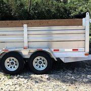Remorque dompeur hydraulique en aluminium 10' 2x3500 lbs