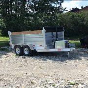 Remorque dompeur hydraulique en aluminium 6x10 2x3500 lbs