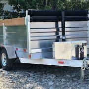 Remorque en aluminium dompeur hydraulique 6x10 2x3500 lbs