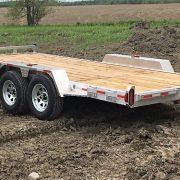 Remorque 80x16 2x3500 lbs en aluminium