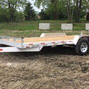 Remorque 80x16 en aluminium 2x3500 lbs