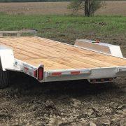 Remorque en aluminium 2x3500 lbs 80x16