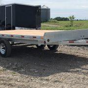 Remorque 102x16 2x3500 lbs Laroche en acier galvanisé plateforme deck over