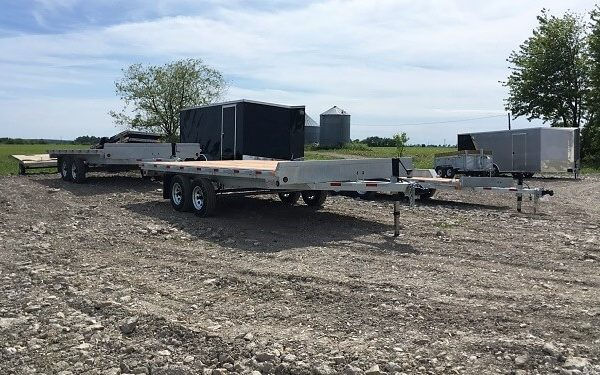 Remorque 102x16 plateforme deck over en acier galvanisé 2x3500 lbs Laroche