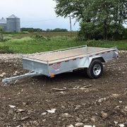 Remorque 5x10 en acier galvanisé essieu 3500 lbs roues 14 po