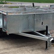 Remorque 6x10 2x3500 lbs côtés Laroche 21 po freins acier galvanisé