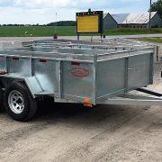 Remorque 6x10 2x3500 lbs freins Laroche côtés 21 po acier galvanisé