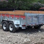 Remorque GAD7x14 Laroche acier galvanisé 2x7000 lbs 80x14