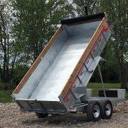 Remorque GAD7x14 Laroche acier galvanisé 80x14 2x7000 lbs