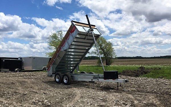 Remorque GAD7x14 acier galvanisé 2x7000 lbs 80x14 Laroche