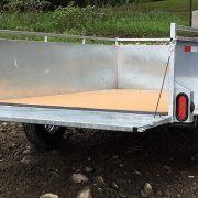 Remorque Laroche 5x8 côtés 21 po essieu 3500 lbs roues 14 po en acier galvanisé