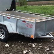 Remorque Laroche 5x8 en acier galvanisé essieu 3500 lbs roues 14 po côtés 21 po