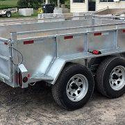 Remorque Laroche 6x10 2x3500 lbs côtés 21 po freins acier galvanisé