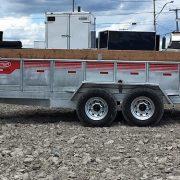 Remorque Laroche GAD7x14 acier galvanisé 80x14 2x7000 lbs