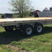 Remorque Laroche acier galvanisé 102x20 2x7000 lbs