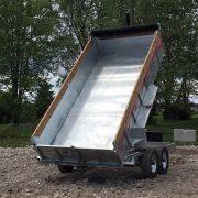 Remorque Laroche acier galvanisé 80x14 2x7000 lbs GAD7x14