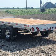 Remorque plate-forme 102x16 2x5200 lbs Laroche en acier galvanisé