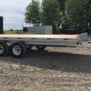 Remorque deck over 102x16 2x3500 lbs Laroche en acier galvanisé plateforme