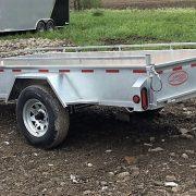Remorque en acier galvanisé essieu 3500 lbs roues 14 po 5x10