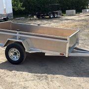 Remorque en aluminium utilitaire 54x97 essieu 2000 lbs