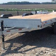Remorque plate-forme 102x16 Laroche en acier galvanisé 2x5200 lbs