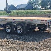 Remorque plate-forme Laroche 2x5200 lbs en acier galvanisé 102x16