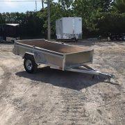 Remorque utilitaire 54x97 en aluminium essieu 2000 lbs