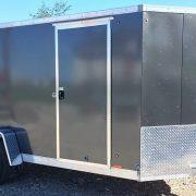 Remorque fermée en aluminium 6x12 hauteur 6' Cargo Express AX charcoal