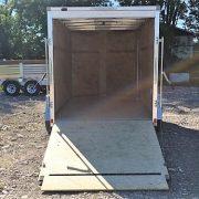 Remorque fermée en aluminium 6x12 hauteur 6' porte rampe Cargo Express AX charcoal