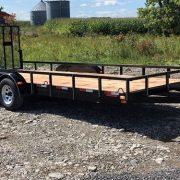 Remorque 80x18 2x3500 lbs Laroche rampe HD