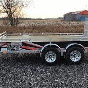 Remorque 2x2500 lbs 68x132 porte rampe UG-68132T Remeq