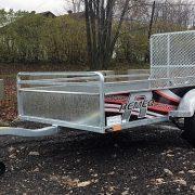 Remorque 52x98 Remeq acier galvanisé porte rampe essieu 2500 lbs côtés 17.5 po