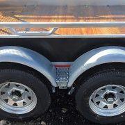 Remorque 5x10 2x2500 lbs en acier galvanisé avec porte rampe côtés 17.5 po Remeq
