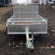 Remorque Remeq 52x98 en acier galvanisé porte rampe essieu 2500 lbs côtés 17.5 po
