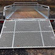 Remorque en acier galvanisé Remeq 52x98 porte rampe essieu 2500 lbs côtés 17.5 po