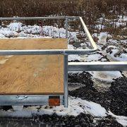 Remorque Remeq 64x120 porte rampe UUG-64120 essieu 2500 lbs côtés ajourés