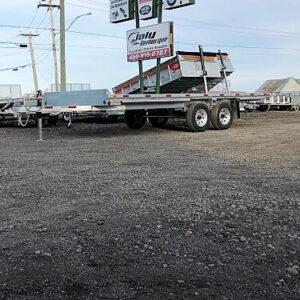 102x18 2x5200 lbs en acier galvanisé Remorque plateforme deck over Laroche