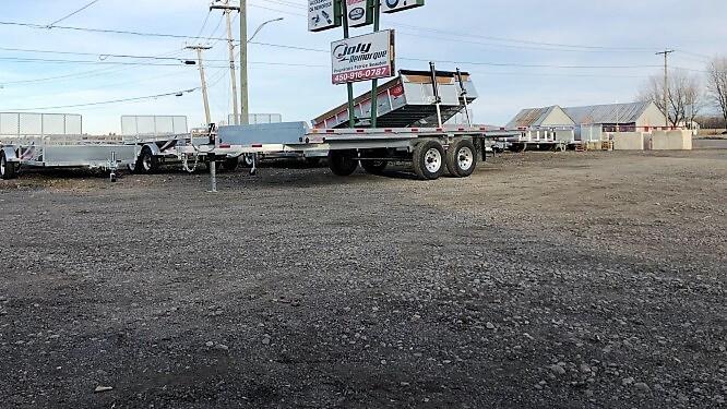 102×18 2×5200 lbs en acier galvanisé Remorque plateforme deck over Laroche