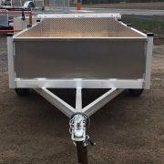 Remorque 4x8 en aluminium ancrages au plancher LED porte rampe pliante côtés 16 po