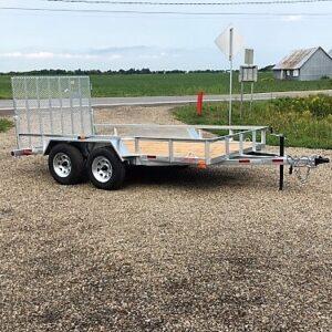 6x12 2x3500 lbs freins Remorque Laroche en acier galvanisé