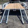 Remorque 80x16 Laroche 2x5200 lbs rampes acier galvanisé freins ancrages LED